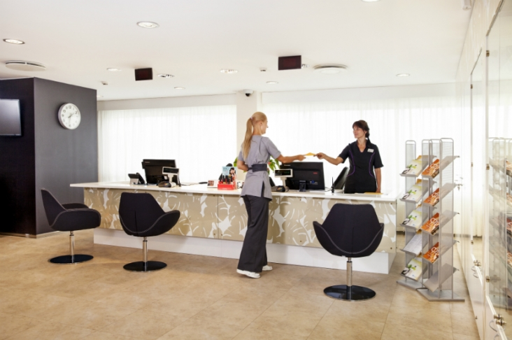 Tervise Paradiis, reception in treatments and relaxations department