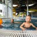 Children in water park