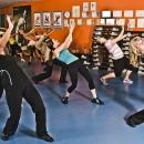 Zumba in aerobics hall