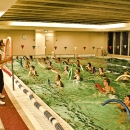 Different group trainings take place in swimming pool