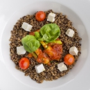 Quinoa / Seasonal vegetables / Feta / Tomato sauce