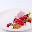 Raspberry sorbet / Raspberry gel / Raspberry meringue
