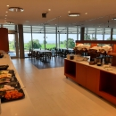 Buffet restaurant has also a superb view on the sea and surroundings