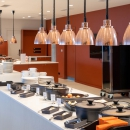 The buffet restaurant of Tervise Paradiis is situated on the 2nd floor of the building